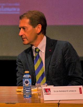 El profesor Luis Gómez Canseco, profesor de la Facultad de Humanidades de la Onubense.