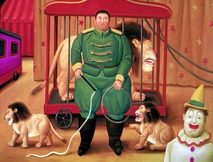Escena de la serie El circo de Botero