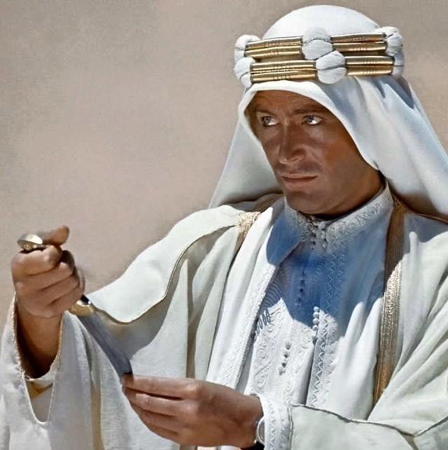 Peter O'Toole , en 'Lawrence de Arabia'