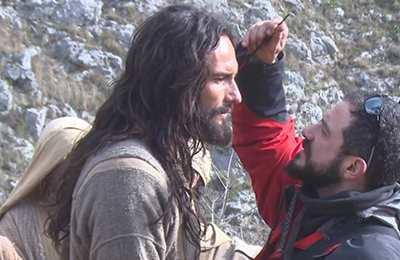 El actor Rodrigo Santoro interpreta a Jesús en Ben-Hur (2016).