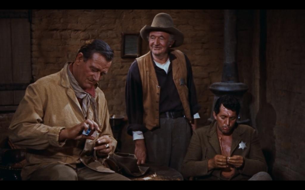 John Wayne, Dean Martin y Walter Brennan, casi nada...