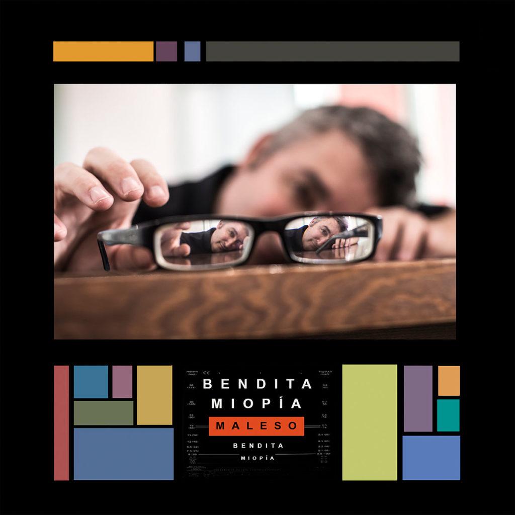 Portada de 'Bendita miopía', noveno álbum del cantautor jerezano Maleso.